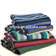 15BLT1018 striped baby cashmere blanket
