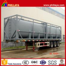 Углеродистой стали 40ft контейнер топливного бака на Полуприцеп