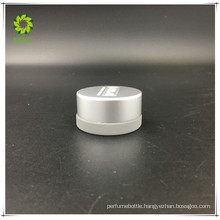 wholesale 5g empty cream use frosted cosmetic glass jar with sliver cap