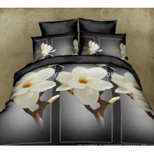 100 Polyester Ensemble de literie à literie double Ensemble de draps de lit matelassé Chine
