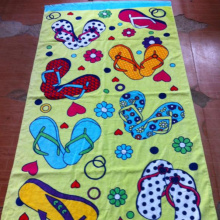 Customized Cotton reactive dye printed beach towel