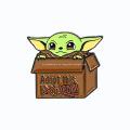 Insignia de metal mandaloriano duro de esmalte suave Yoda 3D