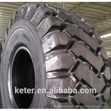 Teste padrão chinês do pneumático OTR 26.5-25 23.5-25 E3E da diagonal, tipo ECOLAND para o mercado de Ásia