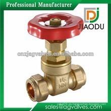 China de fabricación buena calidad personalizada 200wog CW609N latón válvula de compuerta reducida para el agua o el gas