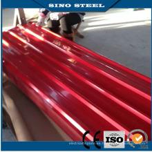 Láminas de acero corrugado galvanizado revestido del color para techar