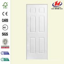28 po x 80 po. Solidoor Texture à 6 panneaux Solid Core Primed Composite Single Prehung Porte d'intérieur
