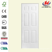 28 in. x 80 in. Solidoor Textured 6-Panel Solid Core Primed Composite Single Prehung Interior Door
