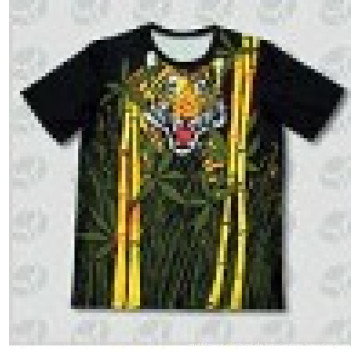 Kundenspezifisches Entwurfs-Sublimations-Druck-T-Shirt, Sublimation-T-Shirt 3D