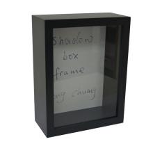 Caja de madera negra de la sombra para el hogar Deco