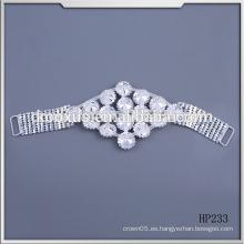 Conectadores cristalinos del traje de baño del bikiní del applique del Rhinestone de la manera