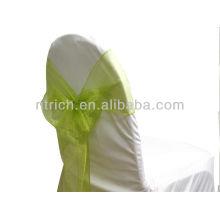 marco de la silla de moda lujo, verde salvia cristal organza lazo, corbata de lazo, nudo, cubierta wedding de la silla y mantel