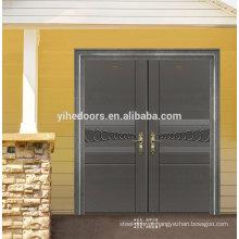Porta de segurança de aço inoxidável de dupla entrada de luxo