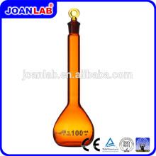 JOAN Lab Borosilikatglas Amber Volumenkolben mit Glasstopfen