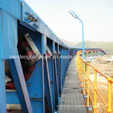 Power Plant Use Pipe Belt Conveyor / Tubular Belt Conveyor for Conveying Coal