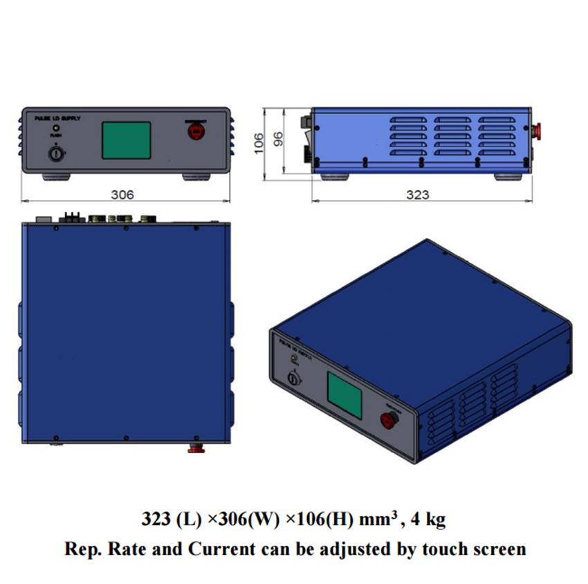 power supply of high energy laser PSU-DPS-Q-I