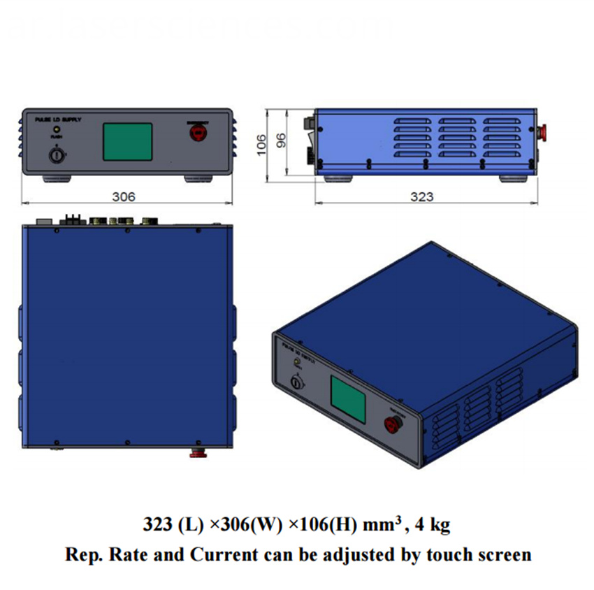 power supply of high energy laser PSU-DPS-Q-I