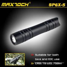 Maxtoch SP6X-5 CREE XML T6 alumínio Mini pequena lanterna