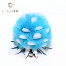 Direct factory price fox tail fur ball keychain designer accessory