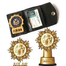 Badge de police avec embellissement 3D plaqué or (GZHY-BADGE-016)