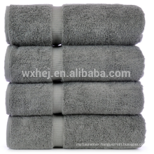 china wholesale 600 gram 100% Cotton 4 Piece Bath Towel, gray