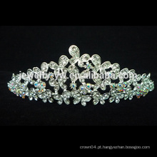 Nova Moda Bridal Cristal Wedding Tiara Jóias, Pageant Coroas E Tiaras
