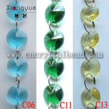 Chaîne de perles ronde cristal lustre