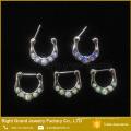 Nez à la mode Piercing Septum Anneau Opale Slave Septum Piercing Bijoux