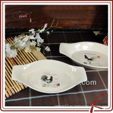 Gallo diseño cerámica al por mayor bakeware