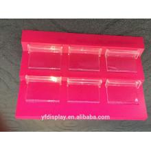 Supports d'affichage cosmétiques acryliques rouges