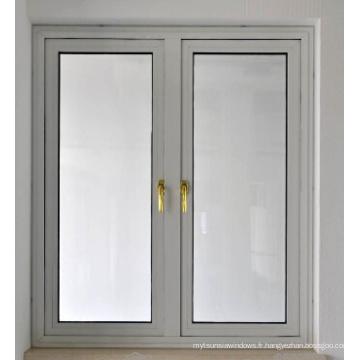 Fenêtre de battement en alliage d'aluminium standard différente