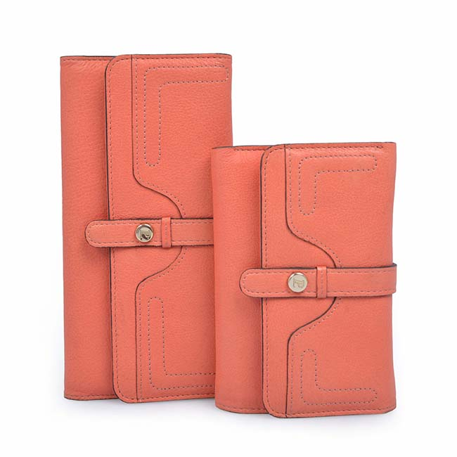 slim leather wallet ladies leather wallet coin purse women fashion long wallet women