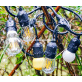 Открытый огни строки набора товарного сорта Эдисон сумка освещения - 48ft тяжелый кабель долг 18 гнезд 21 лампы накаливания (3 Спа