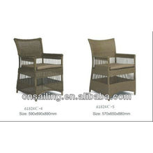 Chaise imperméable patio populaire pe ratan