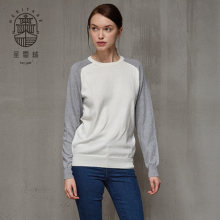 Womens crew neck cotton sweter kasmir