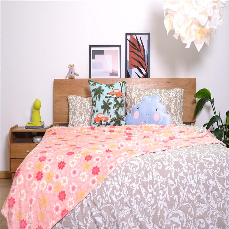 Pink Bed Blanket