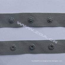 Plástico botón de presión en la cinta adhesiva, cinta de botón de plástico de botón