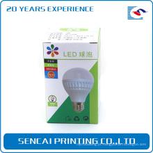 Caixa eletrônica dobrável consideravelmente cinzenta do produto do bulbo de papel da placa com laminação do brilho