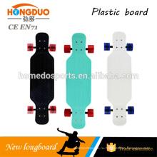 28*10-дюймовый черный длинные Крейсер пластиковые скейтборд