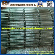 Producción de malla de alambre decorativa para rejillas de protección