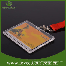 Free Sample Hartplastik ID Kartenhalter Lanyard für Arbeiter