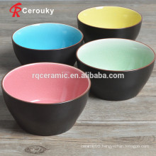 Without lead and cadmium ceramic soup bowl
