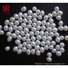 Perles blanches à l'eau douce à 7-8mm