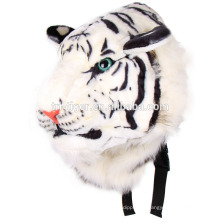 Cool Unisex Animal 3D Tiger Head Felpa Hombros de dibujos animados Bolsa Mochila Tiger