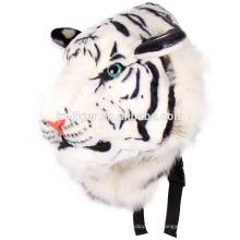 Прохладный унисекс животных 3D голова тигра плюшевые мультфильм плечо сумка тигра рюкзак