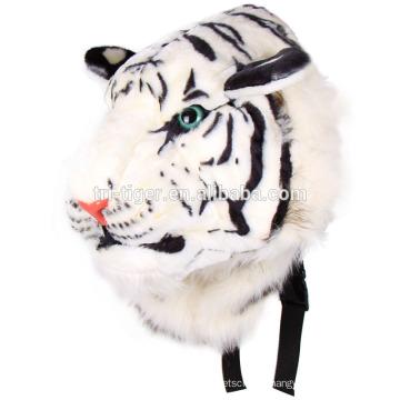 Cool Unisex Animal 3D Tiger Head Plush Cartoon Shoulders Bag Tiger Backpack