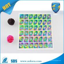 Etiquetas de holograma de laser 3d / etiqueta de holograma com etiqueta de carta / certificado