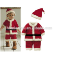 2017 en stock item venta caliente rojo y verde familia de navidad set ropa