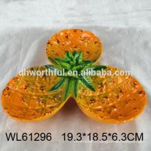 Plaque en céramique à chaud 2016 pour bonbon à la forme d'ananas