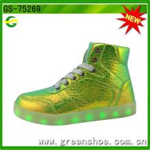 Nova moda popular luminosa acender sapatos para criança (gs-75269)