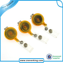 Custom Design Sample Free Metal Retractable Keychain Badge Reels